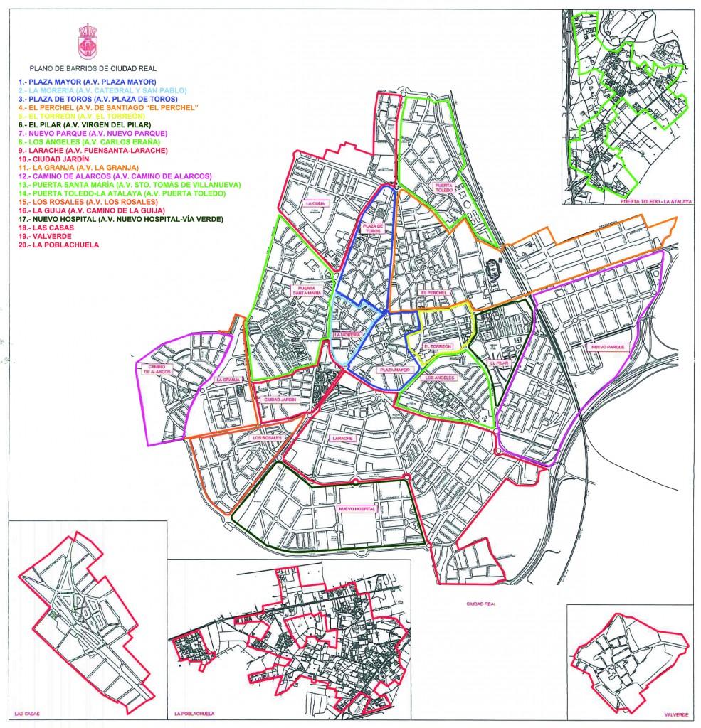 La delimitaci n de barrios en ciudad real despeja el - Plano de ciudad real ...
