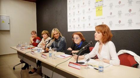 Las escritoras, en el encuentro de la iniciataiva La Cultura del Vino / F.N.
