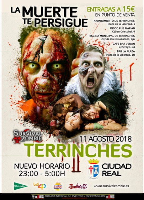El cartel de la Survival Zombie de Terrinches / Lanza