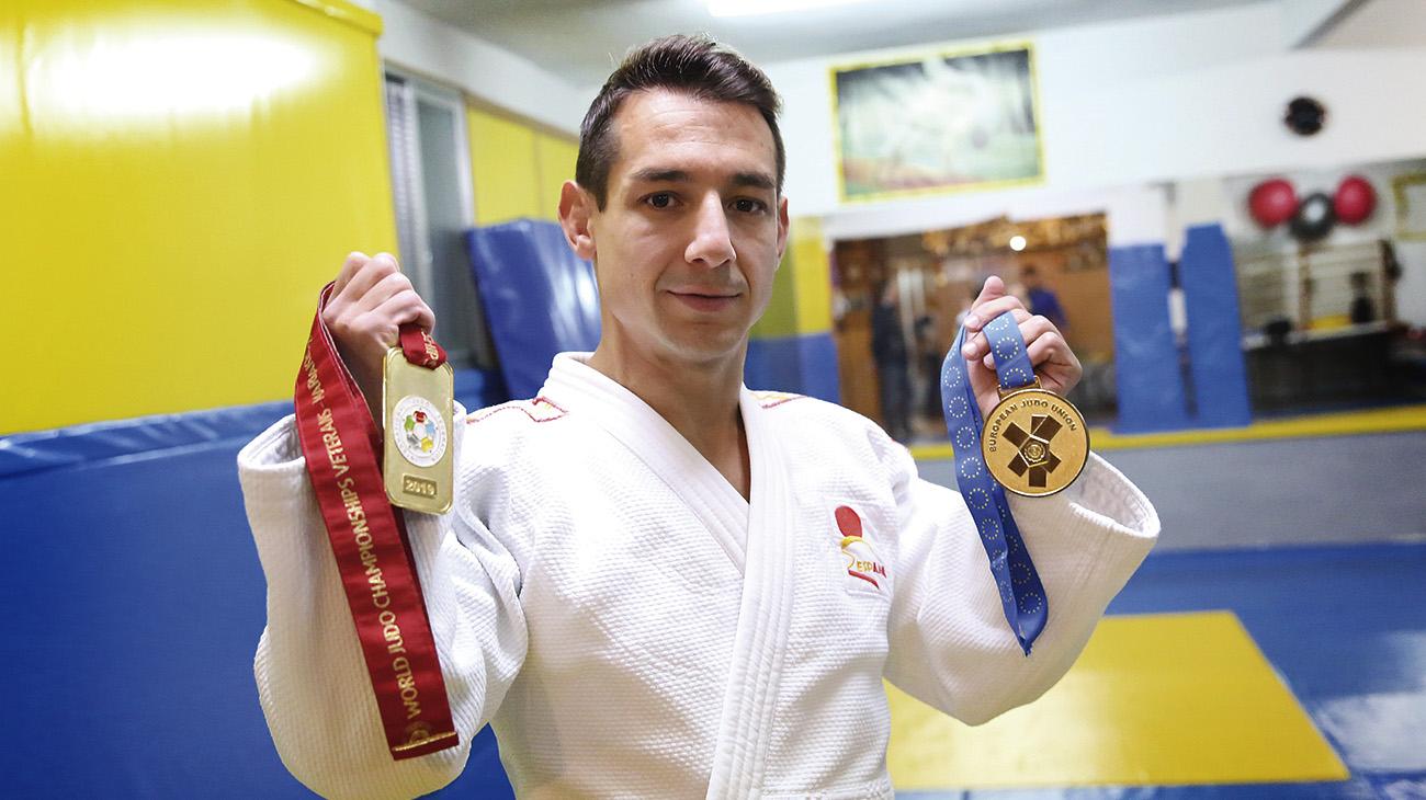 Jorge Galán, en el trono mundial del judo máster - Lanza Digital