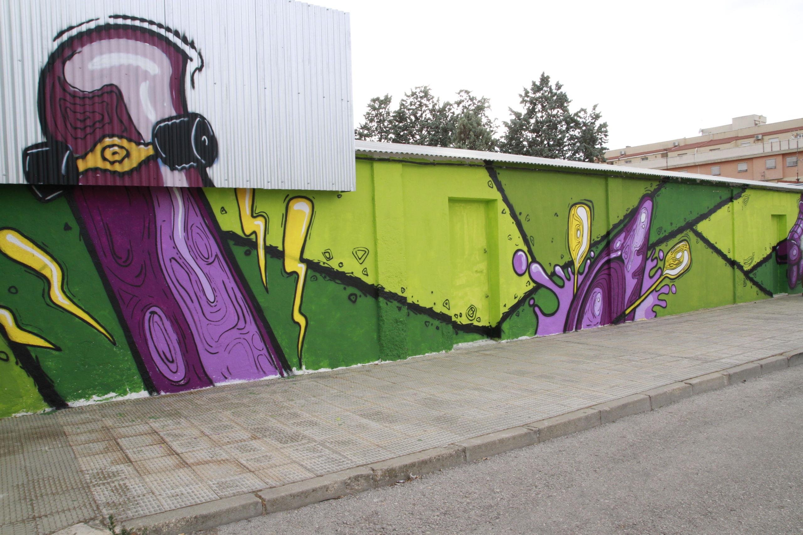 El mural de la plaza de Los Llanos de Valdepeñas / Maite Guerrero