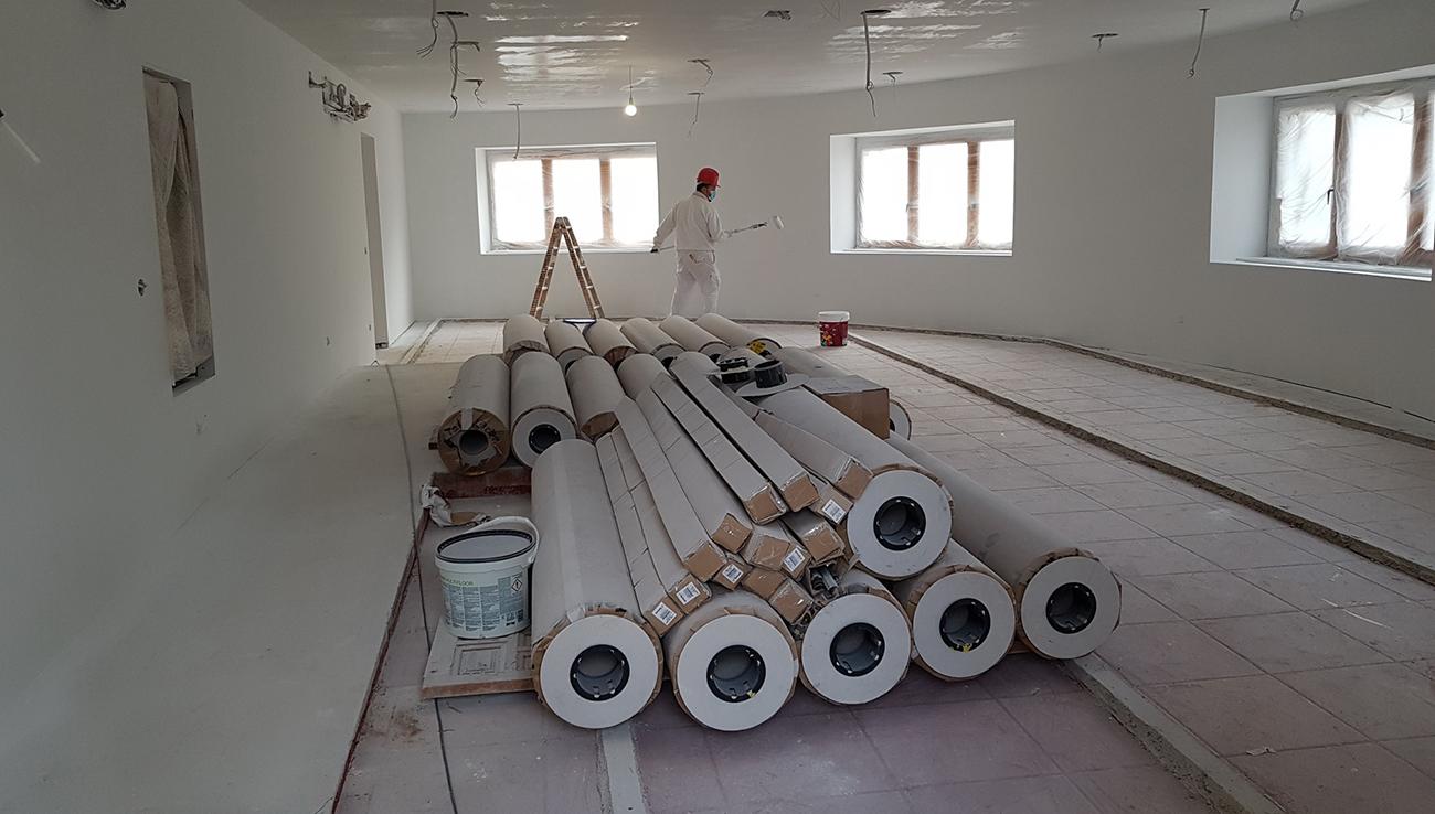Obras del nuevo centro de visitantes de Ruidera / PN Ruidera