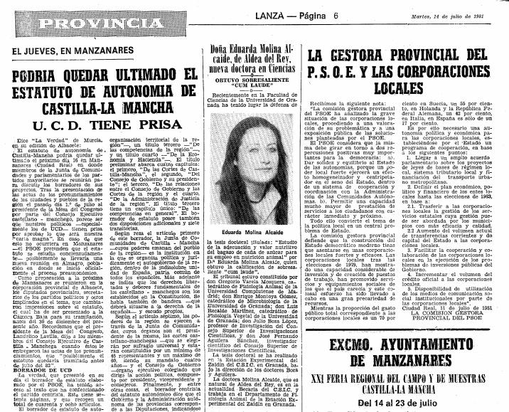 Información previa de la reunión de Manzanares publicada en el diario Lanza / Archivo